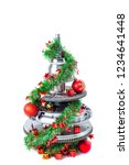 abstract christmas tree of car...   Shutterstock . vector #1234641448