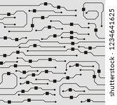 vector microchip background | Shutterstock .eps vector #1234641625