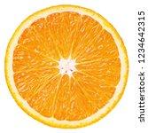 Top View Of Ripe Slice Orange...
