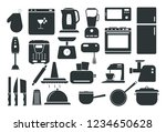 a set of kitchen appliances.... | Shutterstock .eps vector #1234650628