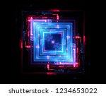 led light. abstract effect.... | Shutterstock . vector #1234653022