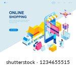 modern flat design isometric... | Shutterstock .eps vector #1234655515