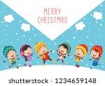 vector illustration of christmas | Shutterstock .eps vector #1234659148