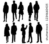 set of vector silhouettes of... | Shutterstock .eps vector #1234660435