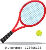 tennis racket and ball | Shutterstock .eps vector #123466138
