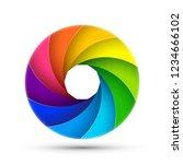 camera shutter photography icon ... | Shutterstock .eps vector #1234666102