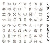 web icon set. collection of... | Shutterstock .eps vector #1234667035