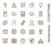 machine learning icon set.... | Shutterstock .eps vector #1234675468