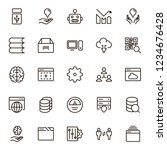 machine learning icon set.... | Shutterstock .eps vector #1234676428