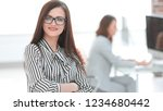 successful business woman on...   Shutterstock . vector #1234680442
