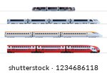 set of passenger train. subway... | Shutterstock .eps vector #1234686118