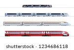 set of passenger train. subway... | Shutterstock .eps vector #1234686118