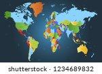 world map vector | Shutterstock .eps vector #1234689832