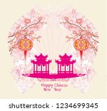 mid autumn festival for chinese ...   Shutterstock . vector #1234699345