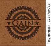 gain wood emblem. vintage. | Shutterstock .eps vector #1234709788