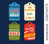 happy boxing day sale design...   Shutterstock .eps vector #1234710175