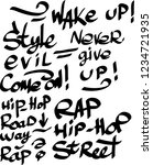 many graffiti tags on a white...   Shutterstock .eps vector #1234721935