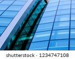 the facade of a modern building ... | Shutterstock . vector #1234747108