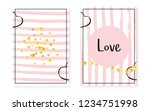 bridal shower set with dots and ... | Shutterstock .eps vector #1234751998