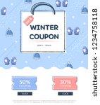 winter sale poster design... | Shutterstock .eps vector #1234758118