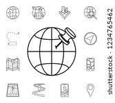 pin on the globe icon. detailed ...