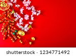 decorate chinese new year 2019... | Shutterstock . vector #1234771492
