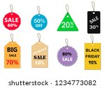 set of sale tag on white...