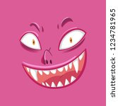 a scary monster face...   Shutterstock .eps vector #1234781965