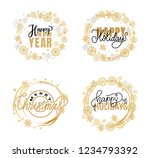 new year  happy holidays and... | Shutterstock .eps vector #1234793392