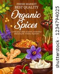 organic spices and herbs market ... | Shutterstock .eps vector #1234794025