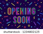 openning soon. banner  speech... | Shutterstock .eps vector #1234802125