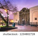 lima  peru  barroque facade of... | Shutterstock . vector #1234802728