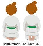 vector illustration of a girl... | Shutterstock .eps vector #1234806232
