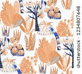 creative seamless pattern with... | Shutterstock . vector #1234807648