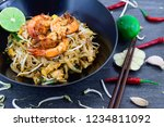 thailand or asia food fried... | Shutterstock . vector #1234811092