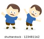 obese man before and after 2  ... | Shutterstock . vector #123481162