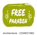 free paraben hand drawn label... | Shutterstock . vector #1234817482