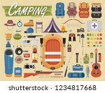 camping equipment vector... | Shutterstock .eps vector #1234817668