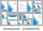 corporate identity set.... | Shutterstock .eps vector #1234818742