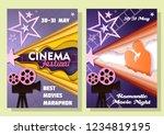 cinema festival date... | Shutterstock .eps vector #1234819195
