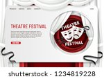 theatre festival landing page... | Shutterstock .eps vector #1234819228