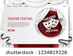 theatre festival landing page... | Shutterstock .eps vector #1234819228