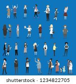 crowd of tiny people walking...   Shutterstock .eps vector #1234822705