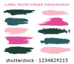 minimalistic label brush stroke ... | Shutterstock .eps vector #1234829215