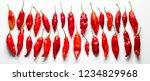 peruvian hot pepper called limo ... | Shutterstock . vector #1234829968