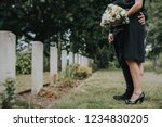 couple standing together by a... | Shutterstock . vector #1234830205