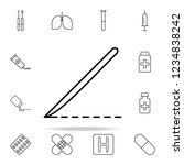 surgical knife line icon.... | Shutterstock .eps vector #1234838242