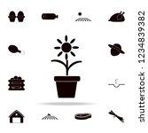 flower in a pot icon. farm... | Shutterstock .eps vector #1234839382
