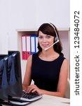 customer care  executive ...   Shutterstock . vector #123484072