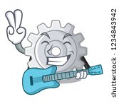 with guitar gear settings...   Shutterstock .eps vector #1234843942